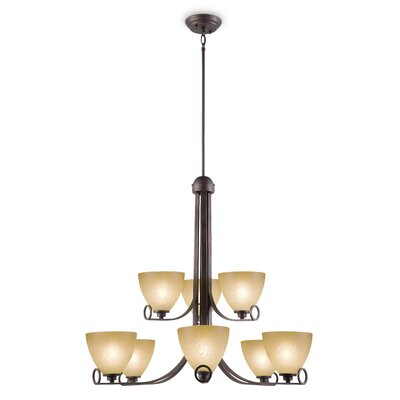 Gracehill Traditional 9-Light Shaded Chandelier
