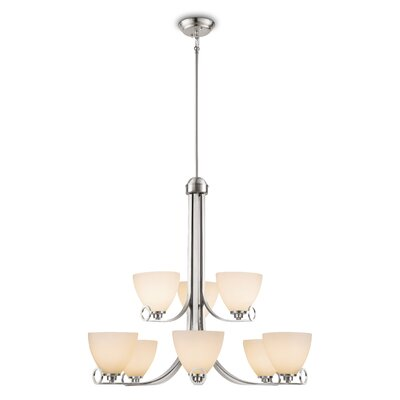 Gracehill 9-Light Shaded Chandelier