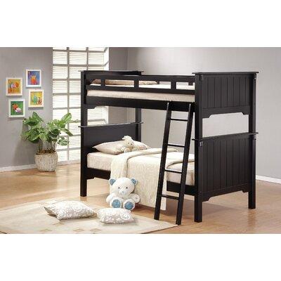 Shreya Twin Futon Wood Frame Bunk Bed