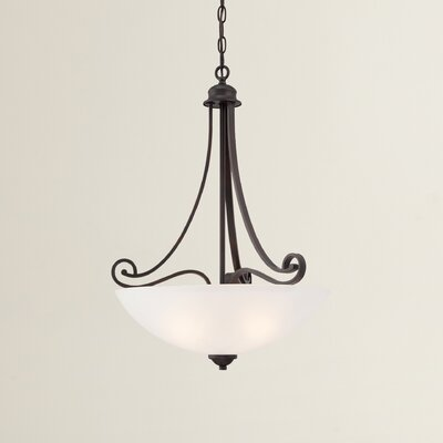 Burbank 1-Light Inverted Pendant Finish: Espresso