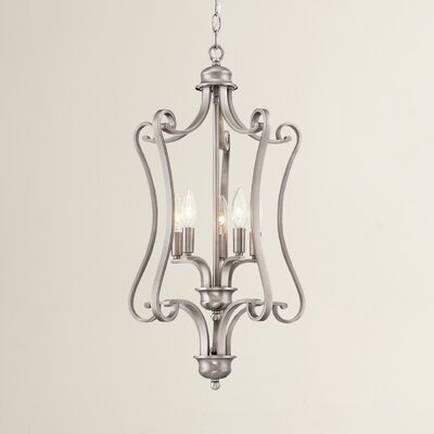 Elinor 5-Light Foyer Pendant Base Color: Satin Pewter