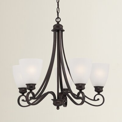 Elinor 5-Light Shaded Chandelier Color: Espresso