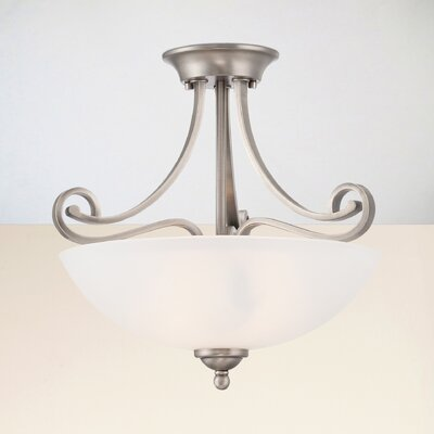 Elinor 2-Light Semi Flush Mount Finish: Satin Pewter