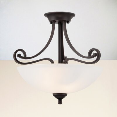 Elinor 2-Light Semi Flush Mount Finish: Espresso