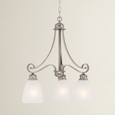 Elinor 3-Light Kitchen Island Pendant Color: Satin Pewter