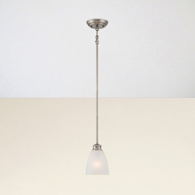 Elinor 1-Light Mini Pendant Base Color: Satin Pewter