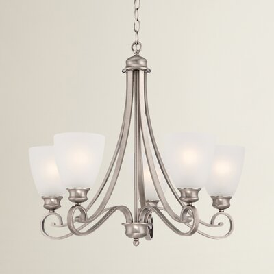 Elinor 5-Light Shaded Chandelier Finish: Satin Pewter