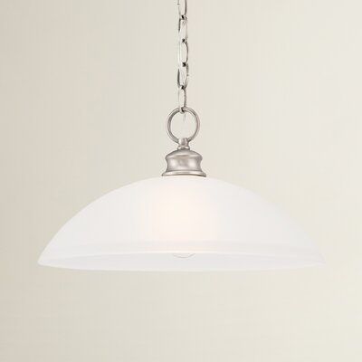 Elinor 1-Light Bowl Pendant Color: Satin Pewter