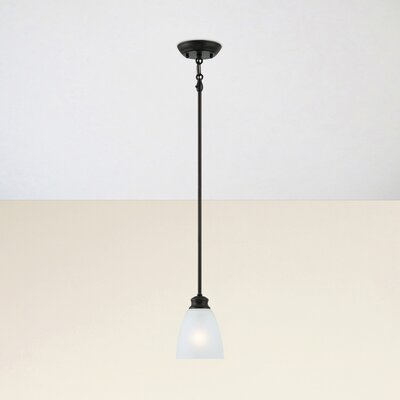 Elinor 1-Light Mini Pendant Base Color: Espresso