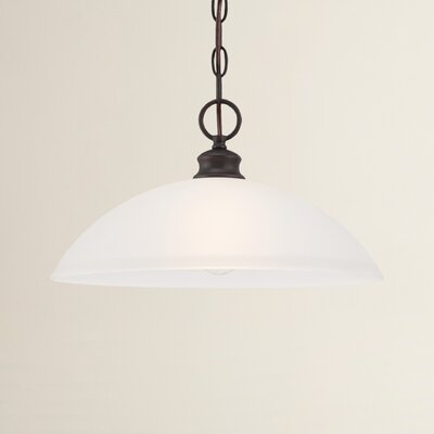 Elinor 1-Light Bowl Pendant Finish: Espresso
