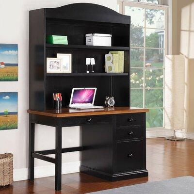Courtdale 46 H x 45.5 W Desk Hutch Finish: Ebony