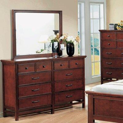 Millerton 10 Drawer Dresser with Mirror