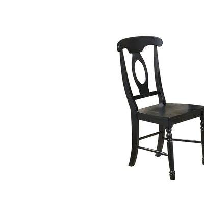 Courtdale Solid Wood Dining Chair (Set of 2) Finish: Ebony