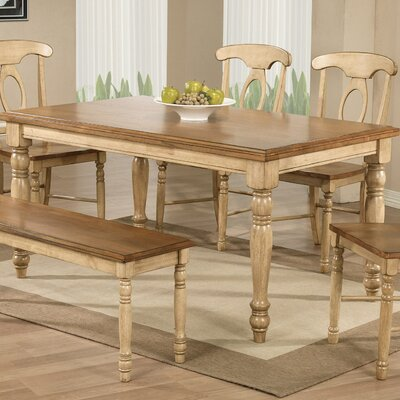 Courtdale Dining Table Finish: Almond / Wheat