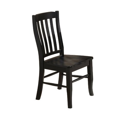 Courtdale Back Side Chair (Set of 2) Finish: Ebony