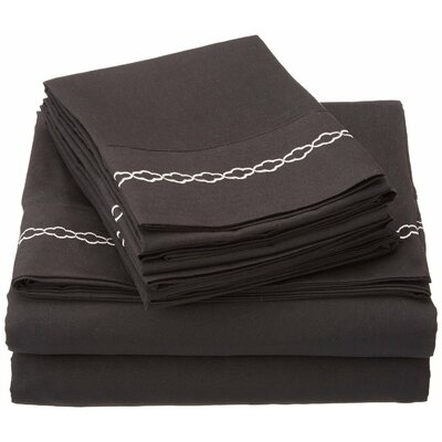 Garrick Microfiber Sheet Embroidery Set