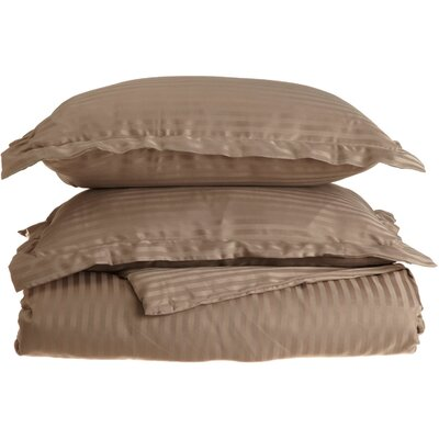 Patric Duvet Set Color: Taupe, Size: Twin / Twin Extra Long