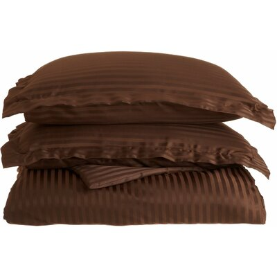 Patric Duvet Set Color: Mocha, Size: Twin / Twin Extra Long