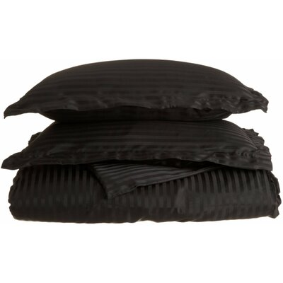 Patric Duvet Set Color: Black, Size: Twin / Twin Extra Long