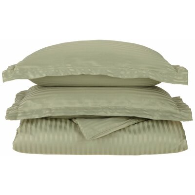Superior Duvet Set Color: Sage, Size: Twin / Twin Extra Long