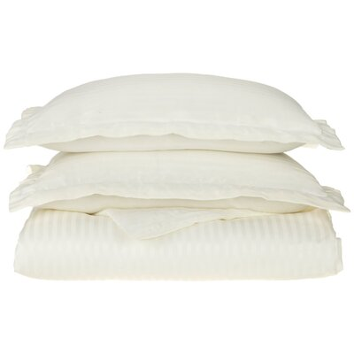 Patric Duvet Set Color: Ivory, Size: Full / Queen