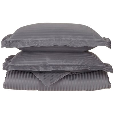 Patric Duvet Set Color: Silver, Size: Full / Queen