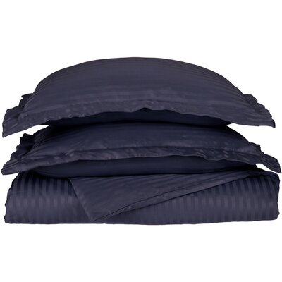 Patric Duvet Set Size: Full / Queen, Color: Navy Blue