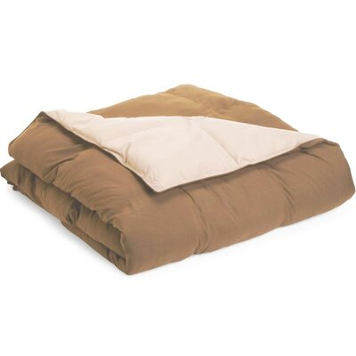 Jeffries All Season Reversible Down Alternative Comforter Color: Chocolate / Sky Blue, Size: Full / Queen