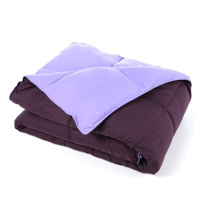 Jeffries All Season Reversible Down Alternative Comforter Size: Twin XL, Color: Purple / Lavender