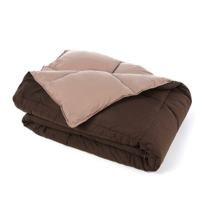 Jeffries All Season Reversible Down Alternative Comforter Size: King, Color: Taupe / Chocolate