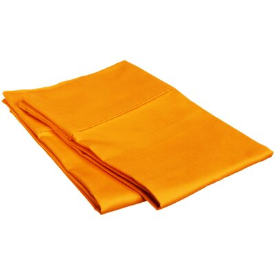Sheatown Microfiber Solid Pillowcase Pair Size: King, Color: Orange
