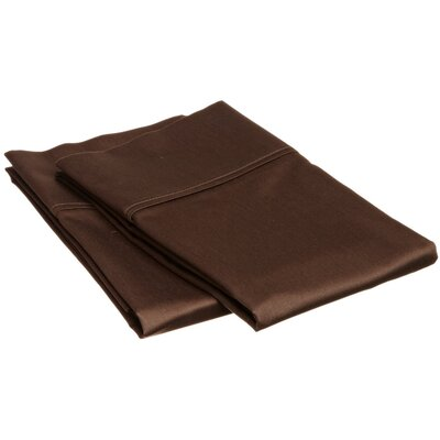 Sheatown Microfiber Solid Pillowcase Pair Size: King, Color: Mocha