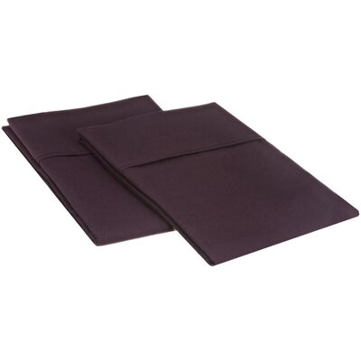 Sheatown Microfiber Solid Pillowcase Pair Size: Standard, Color: Plum