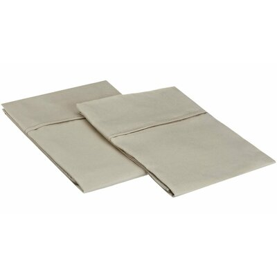 Sheatown Microfiber Solid Pillowcase Pair Size: King, Color: Tan