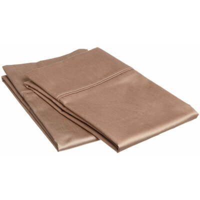 Sheatown Microfiber Solid Pillowcase Pair Size: King, Color: Taupe