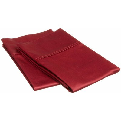 Sheatown Microfiber Solid Pillowcase Pair Size: Standard, Color: Burgundy