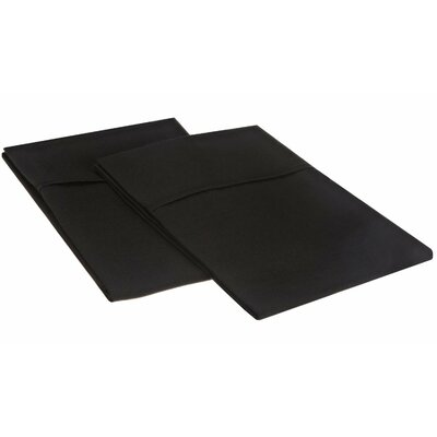 Sheatown Microfiber Solid Pillowcase Pair Size: King, Color: Black