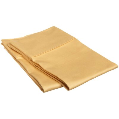 Sheatown Microfiber Solid Pillowcase Pair Size: King, Color: Gold