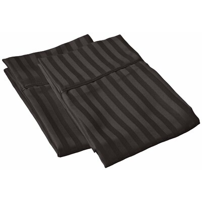 Sheatown Microfiber Stripe Pillowcase Size: Standard, Color: Black