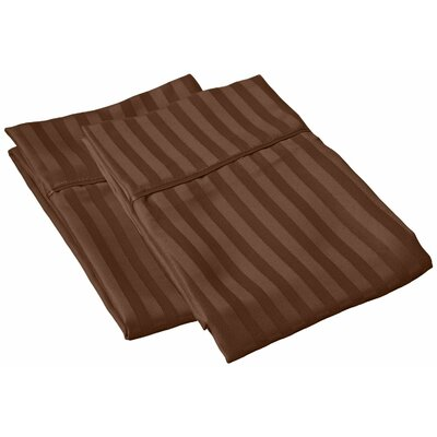Sheatown Microfiber Stripe Pillowcase Color: Mocha, Size: King
