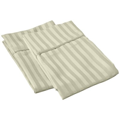 Sheatown Microfiber Stripe Pillowcase Size: Standard, Color: Sage