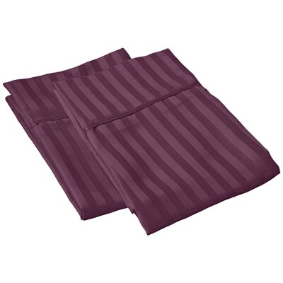 Sheatown Microfiber Stripe Pillowcase Size: Standard, Color: Plum