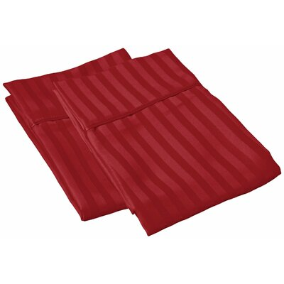 Sheatown Microfiber Stripe Pillowcase Size: King, Color: Burgundy