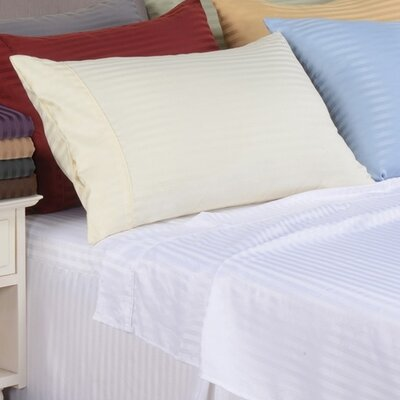 Sheatown Microfiber Stripe Pillowcase Color: Ivory, Size: King