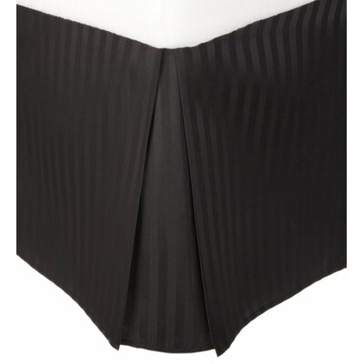 Superior Bed Skirt Size: Queen, Color: Black