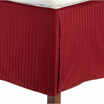 Patric Bed Skirt Size: Twin XL, Color: Burgundy