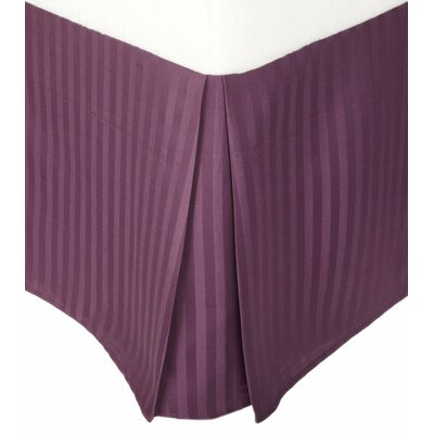 Patric Bed Skirt Size: King, Color: Plum