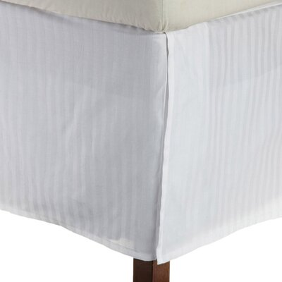 Superior Bed Skirt Color: White, Size: King