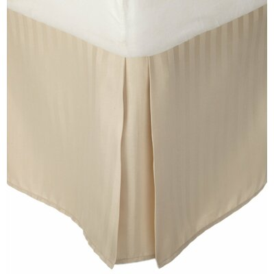 Superior Bed Skirt Color: Tan, Size: Twin XL