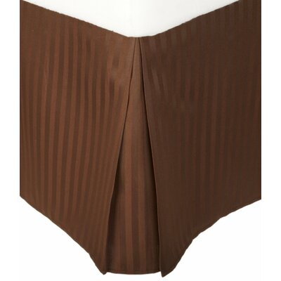 Patric Bed Skirt Size: King, Color: Mocha